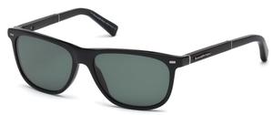 Ermenegildo Zegna EZ0009 Shiny Black with Green Lenses