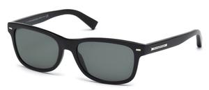 Ermenegildo Zegna EZ0001 Shiny Black with Green Lenses