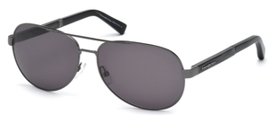 Ermenegildo Zegna EZ0010 Shiny Dark Ruthenium with Gradient Smoke Lenses