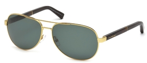 Ermenegildo Zegna EZ0010 Shiny Endura Gold with Polarized Green Lenses