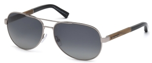 Ermenegildo Zegna EZ0010 Shiny Light Ruthenium with Gradient Smoke Lenses