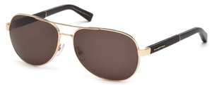 Ermenegildo Zegna EZ0010 Shiny Rose Gold with Polarized Roviex Lenses