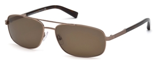 Ermenegildo Zegna EZ0012 Shiny Light Bronze with Roviex Lenses