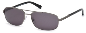 Ermenegildo Zegna EZ0012 Shiny Palladium with Polarized Smoke Lenses
