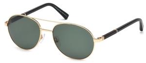 Ermenegildo Zegna EZ0013 Shiny Rose Gold with Polarized Green Lenses