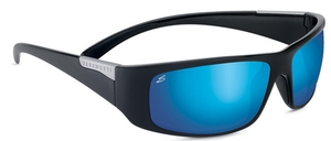 Serengeti Sport Classics Fasano Shiny Black with Polar PhD 555nm Blue Lenses