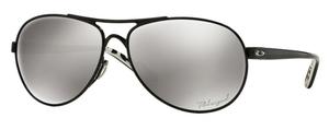Oakley Feedback OO4079 24 Metallic Black / Chrome Iridium Polarzed