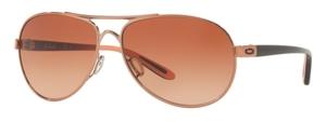 Oakley Feedback OO4079 25 Rose Gold / VR50 Brown Gradient