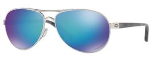 Oakley Feedback OO4079 33 Polished Chrome with Prizm Sapphire Polarized Lenses