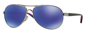 Oakley Feedback OO4079 23 Polished Chrome with Violet Iridium Polarized Lenses