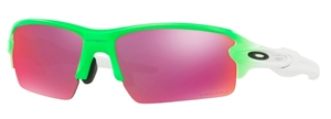 Oakley FLAK 2.0 (Asian Fit) OO9271 13 Green Fade with Prizm Field Lenses
