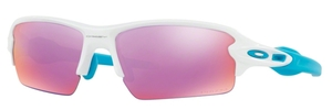 Oakley FLAK 2.0 (Asian Fit) OO9271 17 Polished White with Prizm Golf Lenses