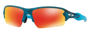 Oakley FLAK 2.0 (Asian Fit) OO9271 29 Aero Grid Sky with Prizm Ruby Lenses