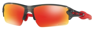 Oakley FLAK 2.0 (Asian Fit) OO9271 30 Grey Smoke with Prizm Ruby Lenses