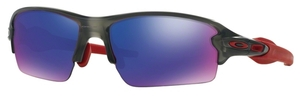 Oakley FLAK 2.0 (Asian Fit) OO9271 03 Matte Grey Smoke with +Red Iridium Lenses