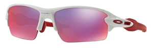 Oakley FLAK 2.0 (Asian Fit) OO9271 04 Polished White with Prizm Road Lenses