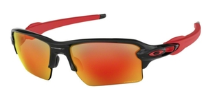 Oakley Flak 2.0 XL OO9188 80 Polished Black with Prizm Ruby