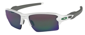Oakley Flak 2.0 XL OO9188 92 Polished White with Prizm Jade