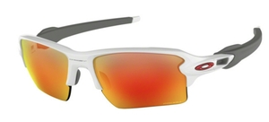 Oakley Flak 2.0 XL OO9188 93 Polished White with Prizm Ruby