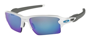 Oakley Flak 2.0 XL OO9188 94 Polished White with Prizm Sapphire