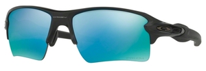 Oakley Flak 2.0 XL OO9188 58 Matte Black with Polarized Prizm Deep Water Lenses