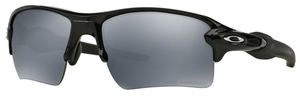 Oakley Flak 2.0 XL OO9188 08 Polished Black with Polarized Black Iridium Lenses