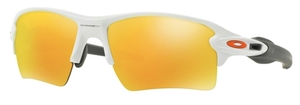 Oakley Flak 2.0 XL OO9188 19 Polished White with Fire Iridium Lenses