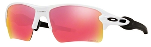 Oakley Flak 2.0 XL OO9188 03 Polished White with Prizm Baseball Outfield Lenses