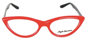Anglo American Fontana Opal Red with Black Temples OP2/BLK
