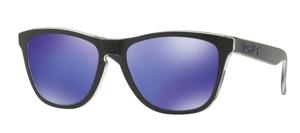 Oakley Frogskins OO9013 B9 Checkbox Black with Violet Iridium Lenses