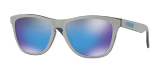 Oakley Frogskins OO9013 C0 Checkbox Silver with Prizm Sapphire Lenses