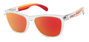 Oakley Frogskins OO9013 E1 Polished Clear with Prizm Ruby