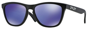 Oakley Frogskins OO9013 24-298 Matte Black with Violet Iridium Lenses