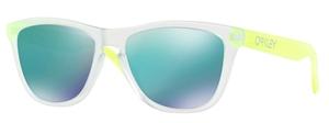 Oakley Frogskins OO9013 B4 Matte Clear with Jade Iridium Lenses