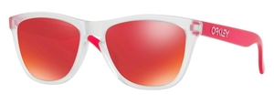 Oakley Frogskins OO9013 B3 Matte Clear with Torch Iridium Lenses