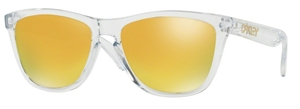 Oakley Frogskins OO9013 A4 Polished Clear with 24K Iridium Lenses