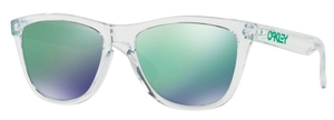 Oakley Frogskins OO9013 A3 Polished Clear with Jade Iridium Lenses