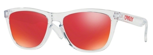 Oakley Frogskins OO9013 A5 Polished Clear with Torch Iridium Lenses