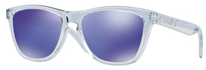 Oakley Frogskins OO9013 24-305 Polished Clear with Violet Iridium Lenses