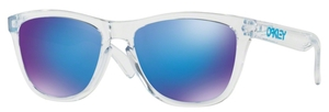 Oakley Frogskins OO9013 A6 Polsihed Clear with Sapphire Iridium Lenses