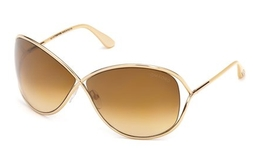 Tom Ford FT0130 Miranda Shiny Rose Gold with Gradient Brown Lenses