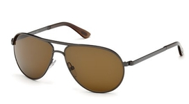 Tom Ford FT0144 Marko Matte Gunmetal with Roviex Brown Lenses