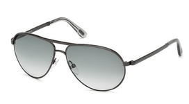 Tom Ford FT0144 Marko Shiny Gunmetal with Gradient Smoke Lenses