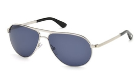 Tom Ford FT0144 Marko Shiny Rhodium with Blue Lenses
