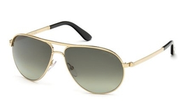 Tom Ford FT0144 Marko Shiny Rose Gold with Gradient Green Lenses