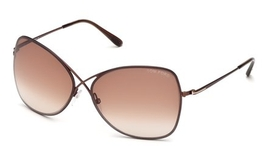 Tom Ford FT0250 Shiny Dark Brown with Gradient Brown Lenses