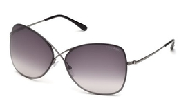 Tom Ford FT0250 Shiny Gunmetal with Smoke Mirror Lenses