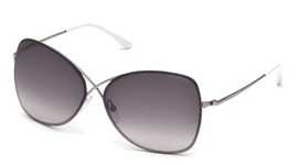 Tom Ford FT0250 Shiny Light Ruthenium with Gradient Smoke Lenses