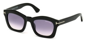 Tom Ford FT0431 GRETA shiny black / gradient mirror violet
