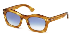 Tom Ford FT0431 GRETA yellow/other / gradient blue